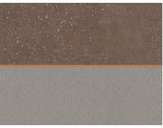 Стеновая панель двухсторонняя 4100х640х8 Алюминий мелкоматированный F502 ST2 : Спаркл Грэйн рустикальный F484 ST87, Egger