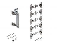 Комплект фурнитуры WingLine 230 для правой складной двери со створками 20-25 кг/L 400-600 ммм/H до 3000 мм Art. 9225384, Hettich