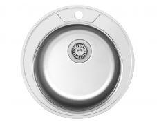 Мойка кухонная врезная 490A, 490x180, 0,8мм, выпуск 3 1/2, нержавейка, сатин, в комплекте, Roska