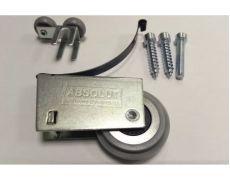 Комплект роликов для ассиметричной алюминиевой системы на одну дверь (2 верх + 2 низ + винты), Absolut