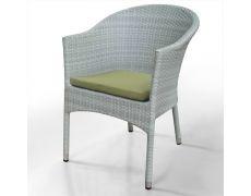 Плетеное кресло из искусственного ротанга WS2907W White