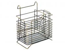 Подставка для столовых приборов с универсальным размещением 151х129х180 мм, бронза