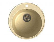 Мойка кухонная Granfest GF - Z08 (ECO-08), 480х180мм, бежевый, искусственный камень