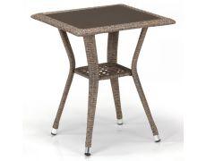 Плетеный стол из искусственного ротанга T25-W56-50x50 Light brown