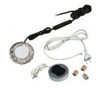 Компплект из 1-го LED свет-ка Artus-1 220V врезной/никель/тепл.свет/выкл/сет.шнур