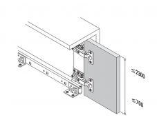 Комплект фурнитуры для поворотно-выдвижных дверей 1319 (5,5 IF), направляющая 550 мм Art. 408.07.556, Hafele