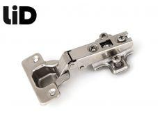 Петля накладная 110* slide on, с ответной планкой H=2 крепление евро шурупом, LID