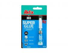 Клей универсальный Akfix 303 (супер клей), тюбик 3 гр.