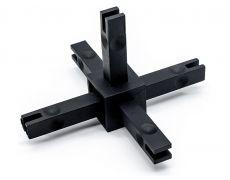 CADRO каркасная система, Угловое соединение 5и-стороннее 3D, черный матовый