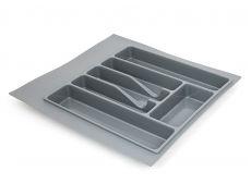 Лоток для столовых приборов М500-550, 470х490 мм, серый, пластик