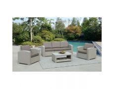Пластиковый комплект для отдыха с диваном AFM-3017G Light grey