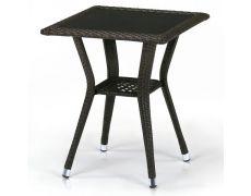 Плетеный стол из искусственного ротанга T25-W53-50x50 Brown