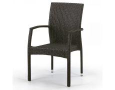 Плетеный стул из искусственного ротанга Y379A-W53 Brown