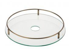 Полка стеклянная центральная d=350 мм, бронза