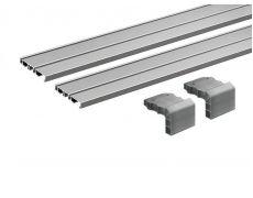 Профиль ходовой SLIDELINE M двухполозный L2500 (к-т 2 профиля + 2 адаптера), алюминий Art. 9227245 Hettich