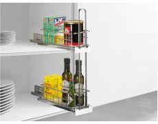 Бутылочница для верхней базы, Cargo IQ plus, выдвижной элемент для навесного шкафа, серебристый Art. 9066486, Hettich