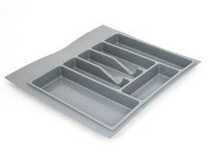 Лоток для столовых приборов М600, 540х490 мм, серый, пластик
