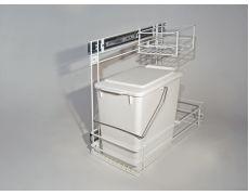 Ведро для мусора выдвижное боковое одинарное, 13 л., белое Art. 548.50.252 Hafele