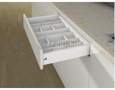 Лоток для столовых приборов OrgaTray 590 для ящиков InnoTech Atira модуль 300 мм, Гл 462xШ207 мм, цвет белый, Art.9194897, Hettich