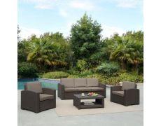 Пластиковый комплект для отдыха с диваном AFM-3017B Dark brown