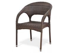 Плетеное кресло из искусственного ротанга Y90CG-W1289 Pale