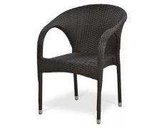 Плетеное кресло из искусственного ротанга Y290B-W52 Brown