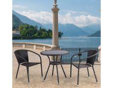 Кофейный комплект плетеной мебели из искусственного ротанга T282ANS/Y137C-W53 Brown 2Pcs