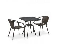 Комплект плетеной мебели из искусственного ротанга T282BNT/Y137C-W53 Brown 2Pcs