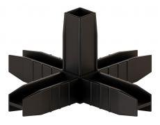 ЛОФТ НД каркасная система, Угловое соединение 5и-стороннее 3D (№5), черный матовый