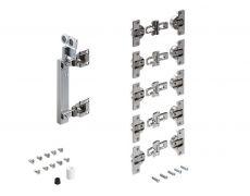 Комплект фурнитуры WingLine 230 для левой складной двери со створками 20-25 кг/L 400-600 ммм/H до 3000 мм Art. 9225381, Hettich