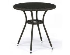 Плетеный стол из искусственного ротанга T282ANS-W53-D72 Brown