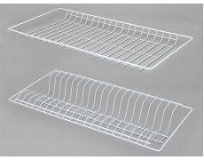 Сушилка для посуды 800 (765х256 мм) с рамкой, без поддона, белая, Россия