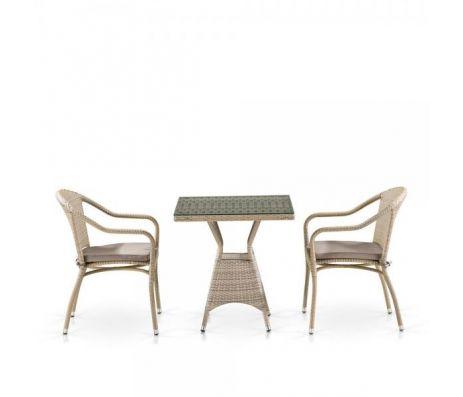 Комплект плетеной мебели T706/Y480C-W85 Latte (2+1)