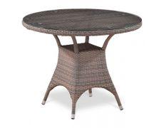 Плетеный стол из искусственного ротанга T220CGT-W1289-D96 Pale