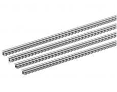 Профиль ходовой SLIDELINE M однополозный врезной L2500 (к-т 4 шт), алюминий Art. 9227246 Hettich
