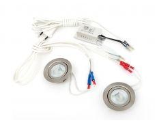 Комплект 2 врезных светильников галоген. FT9216 20W, мат. стекло (тр-р, сетевой шнур 1,8м c выкл. в упаковке), сатин