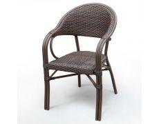 Плетеное кресло из искусственного ротанга D2003SR-AD64 Brown