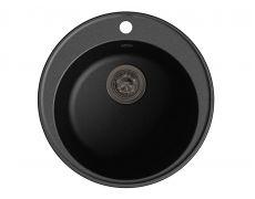 Мойка кухонная Granfest GF - Z08 (ECO-08), 480х180мм, черный, искусственный камень