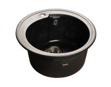 Мойка кухонная Granfest GF - R450, 443х190мм, черный 308, искусственный камень, в комплекте