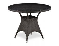 Плетеный стол из искусственного ротанга T220CBT-W52-D96 Brown
