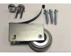 Комплект роликов для асимметричной алюминиевой системы SLIM на одну дверь, Absolut