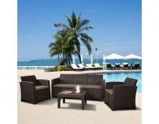 Пластиковый комплект для отдыха с диваном AFM-5018B Brown