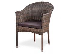 Плетеное кресло из искусственного ротанга Y350G-W1289 Pale