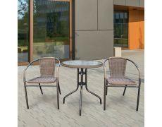 Комплект мебели для летнего кафе Асоль-1A TLH-037AR2/060RR-D60 Cappuccino 2Pcs