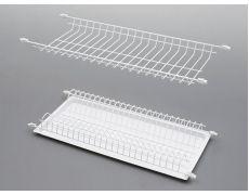 Сушилка для посуды 800 (765х225 мм) без рамки, без поддона, белая, Россия