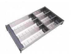 Лоток из нержавеющей стали для ящика B-BOX PC04/GR/280x472, Boyard