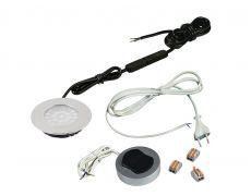 Компплект из 1-го LED свет-ка Polo 220V врезной/хром/тепл.свет/выкл/сет.шнур