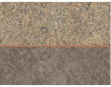 Стеновая панель двухсторонняя 4100х640х8 Гранит Галиция серо-бежевый F371 ST89 : Бетон орнаментальный серый F333 ST76, Egger