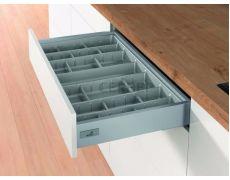 Лоток для столовых приборов OrgaTray 590 для ящиков InnoTech Atira модуль 300 мм, Гл 462xШ270 мм, цвет серебристый, Art.9194886, Hettich