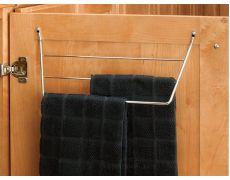 Держатель для полотенец на фасад от 400 мм, сталь, хром